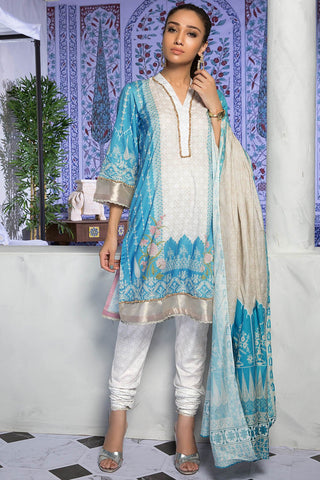 3PC Lawn Print 389228A - Unstitched - Warda Designer Collection