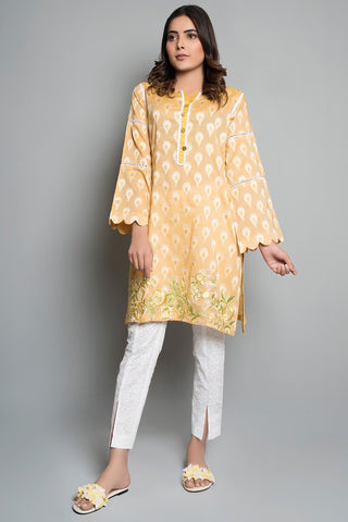 Warda Designer Collection - Single Shirt Solid Jacquard with Embroidery Solid Embroidery LS18192