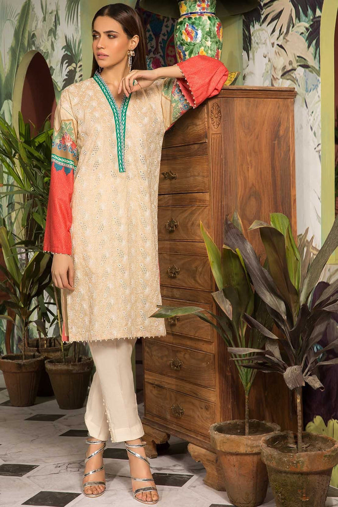Warda Designer Collection - Single Shirt Lawn Chikan Kari with Print 1309148