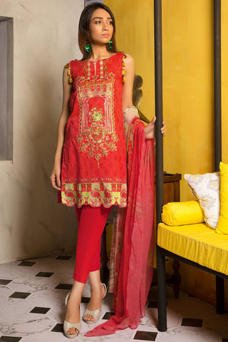 3PC Chiffon Lawn Embroidery 3819407 - Unstitched - Warda Designer Collection