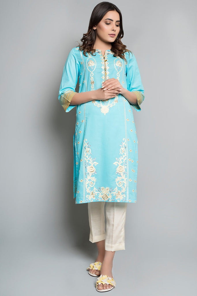 Single Shirt Solid Lawn Embroidery Solid Embroidery LS18256 - Pret - Warda Designer Collection