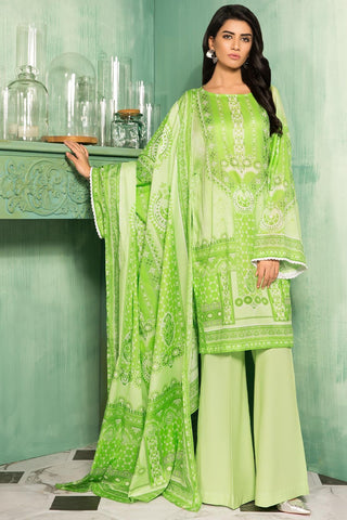 Warda Designer Collection - 3PC Lawn Print 3819002