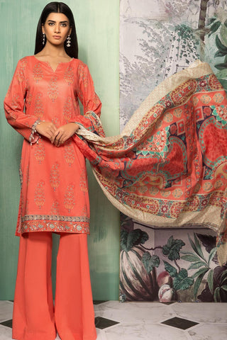 Warda Designer Collection - 3PC Lawn Print 8 Meters 3819037