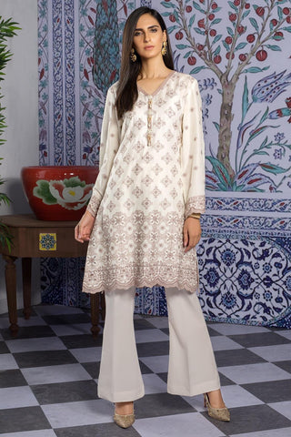 Single Shirt Lawn Chikan Kari 1309480 - Unstitched - Warda Designer Collection