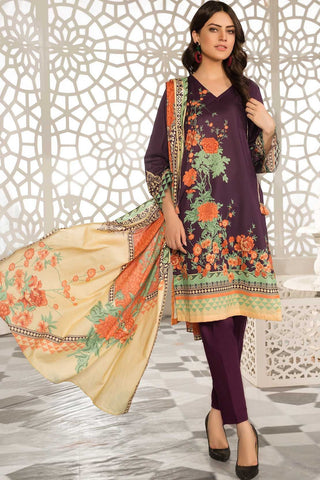 3PC Lawn Print 3819205 - Unstitched - Warda Designer Collection
