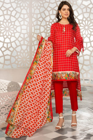 Warda Designer Collection - 3PC Lawn Print 7.5 Meters 3819214