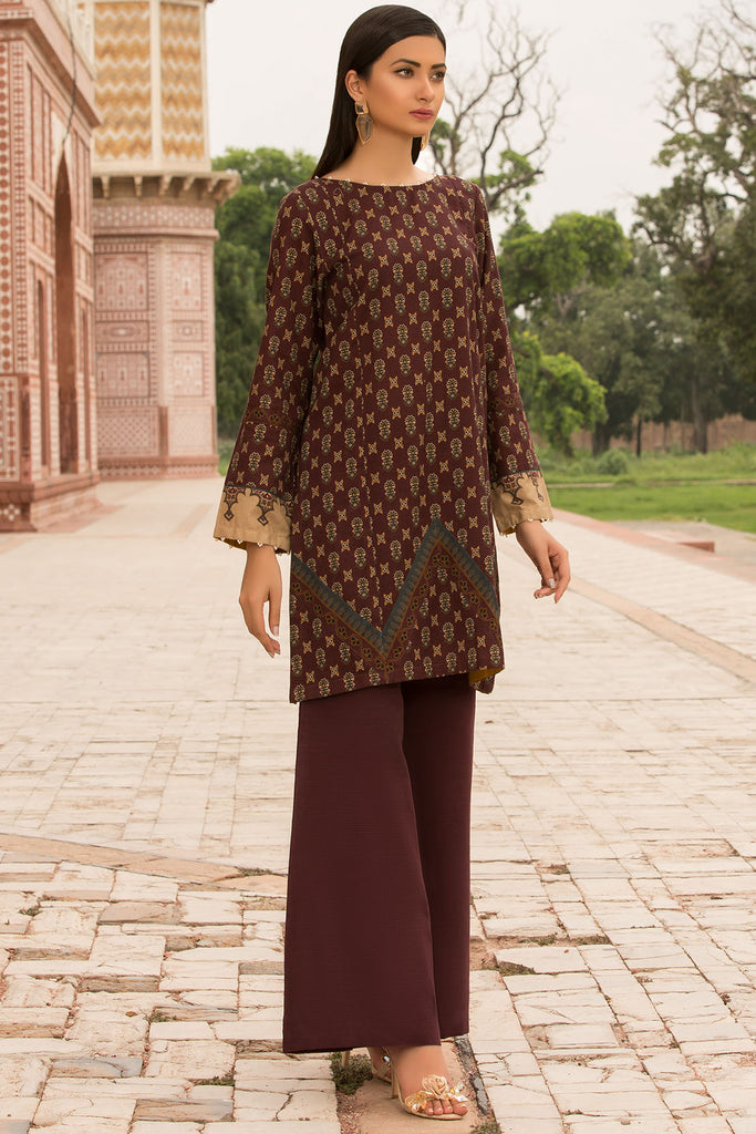 Warda Designer Collection - Single Shirt Khaddar Print 2.5 Meter 1309793