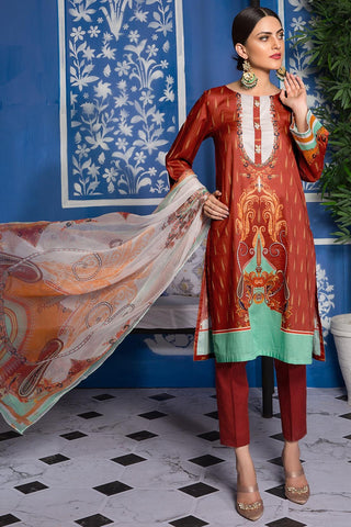 Crimson Folk 3819446 - Premium - Warda Designer Collection