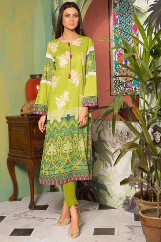 Unstitched - 2PC Lawn Embroidery with Trouser 259017A - Warda Designer Collection