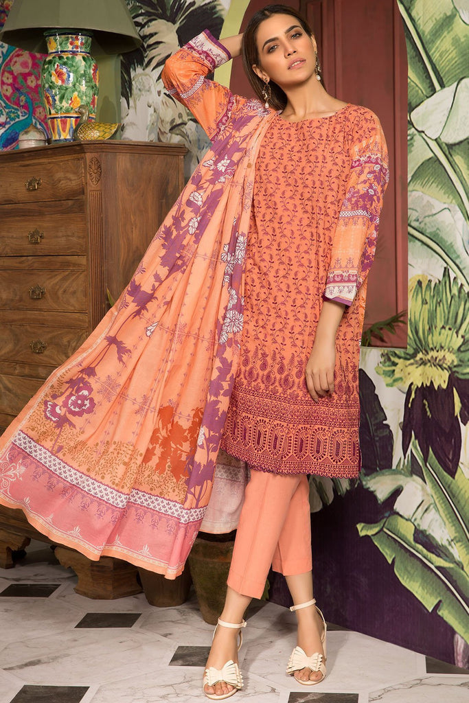 Warda Designer Collection - 3pc Lawn Chikan Kari 389082A