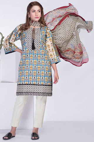 Warda Designer Collection - 3PC Chiffon Lawn Print LS18211