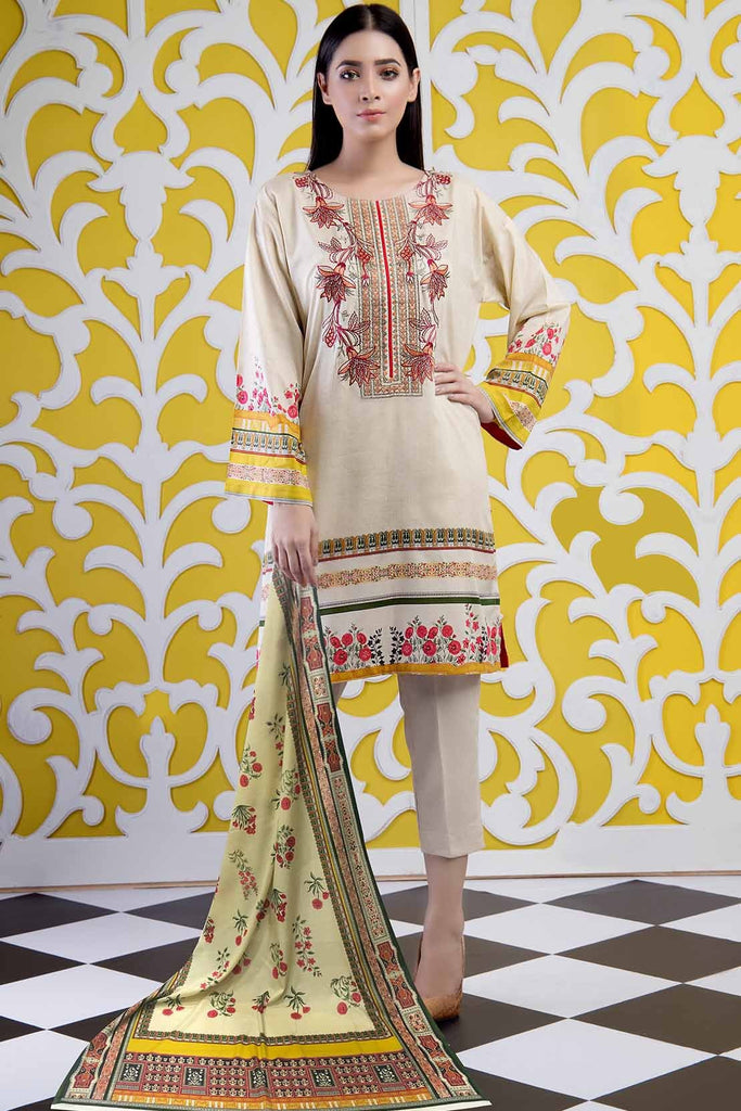 Warda Designer Collection - 2Pc Lawn Embroidery With Dupatta 2559472