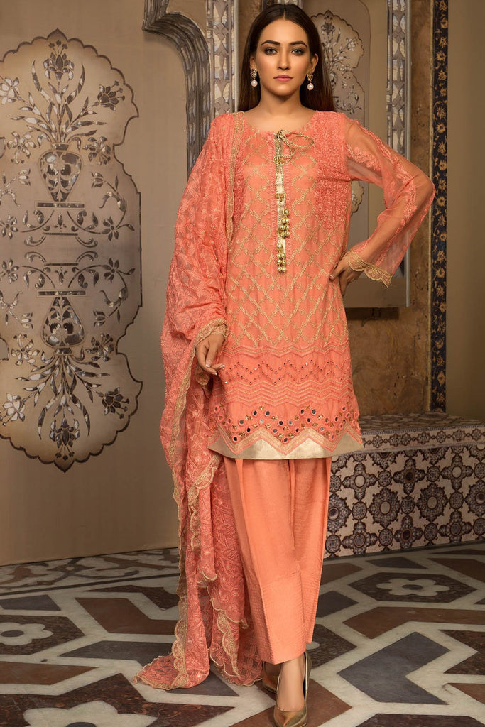 Warda Designer Collection - Melange Pure Gul-e-Yas 3819293