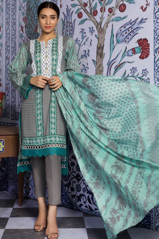 Warda Designer Collection - 2PC Lawn Print with Dupatta 2559356