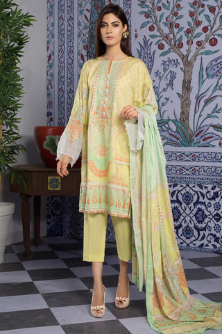 Warda Designer Collection - 3PC Lawn Print 389379A