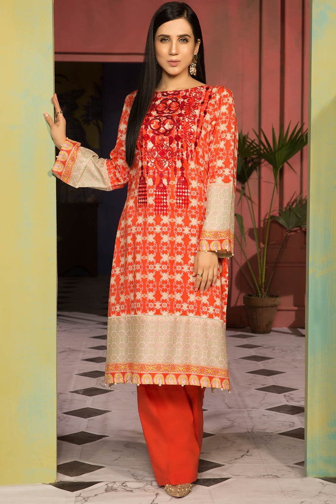 Warda Designer Collection - Single Shirt Lawn Embroidery 2.5 Meters 139134A