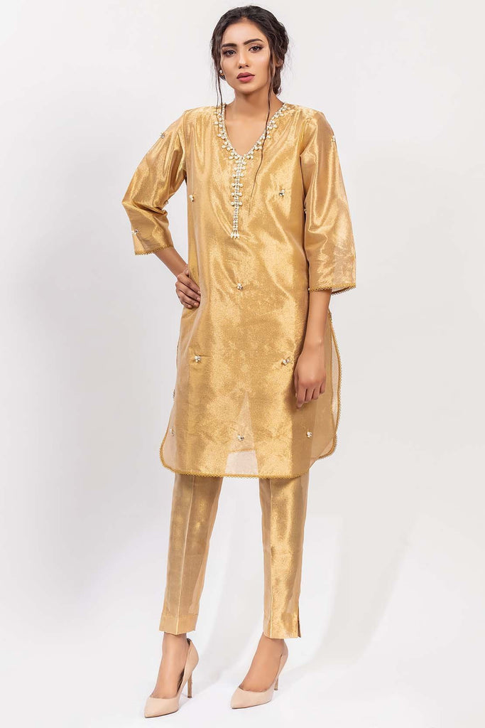 Warda Designer Collection - Stitched Single Shirt Embroidered with Inner Embelishement LPS1846