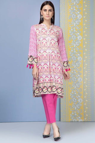 Unstitched - 2PC Lawn Print with Trouser 5 meters 2559009 - Warda Designer Collection