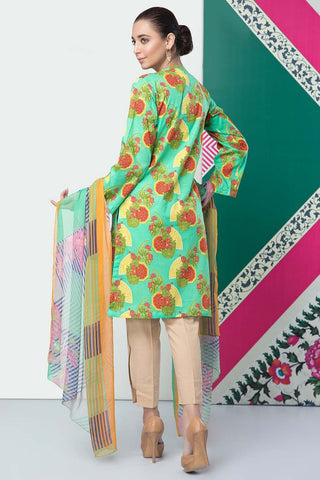 Unstitched - 2PC Lawn Print with Chiffon Dupatta 2559010 - Warda Designer Collection