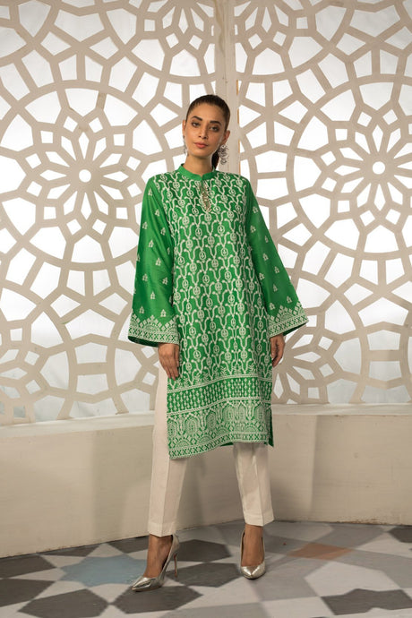 2PC Lawn Chikan Kari 2559317 - Unstitched - Warda Designer Collection