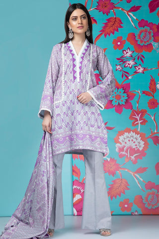 Warda Designer Collection - 2PC Lawn Print with Dupatta 259183A