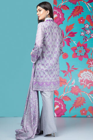 Unstitched - 2PC Lawn Print with Dupatta 259183A - Warda Designer Collection