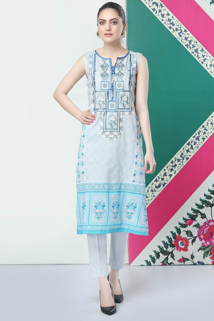 Unstitched - 2PC Lawn Embroidery with Trouser 259196A - Warda Designer Collection