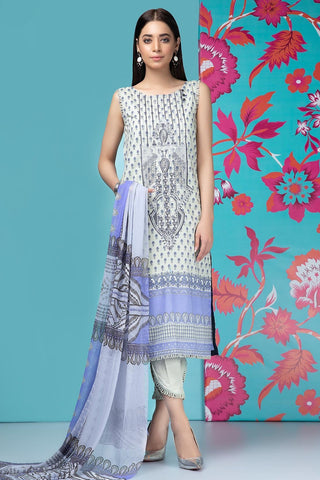 Warda Designer Collection - 2PC Lawn Embroidery with Chiffon Dupatta 259198A