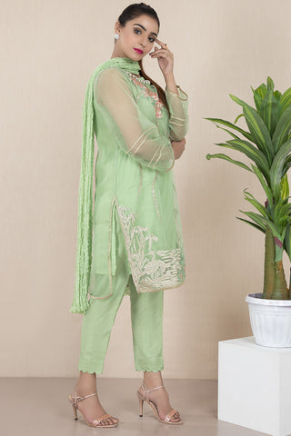 Warda Designer Collection - Formal Embroidered shirt with Inner and Dupatta LPS1903