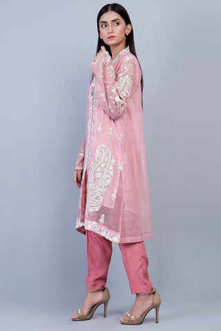 Warda Designer Collection - Formal Embroidered Shirt with Inner LPS1842