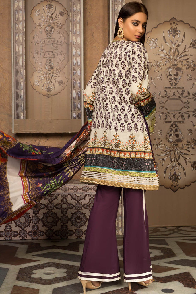 Melange Print Mughal Vert B 3819292 - Premium - Warda Designer Collection