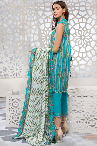 Warda Designer Collection - 3PC Lawn Print 7.5 Meters 389213A