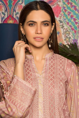 Unstitched - 3PC Lawn Chikan Kari 3819081 - Warda Designer Collection