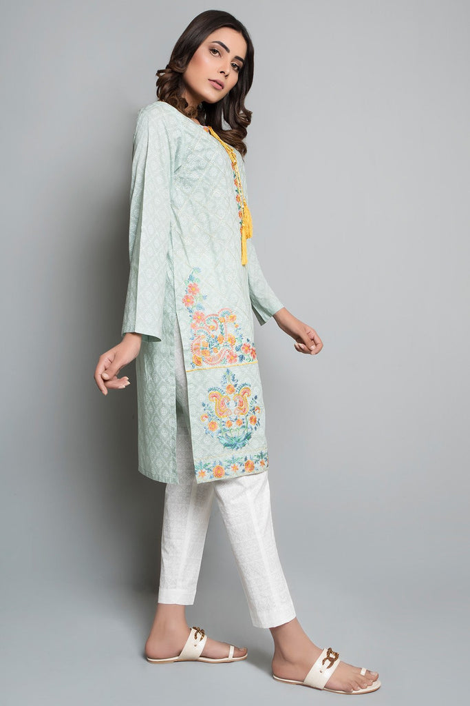 Single Shirt Print Embroidery Print Embroidery LS18877 - Pret - Warda Designer Collection