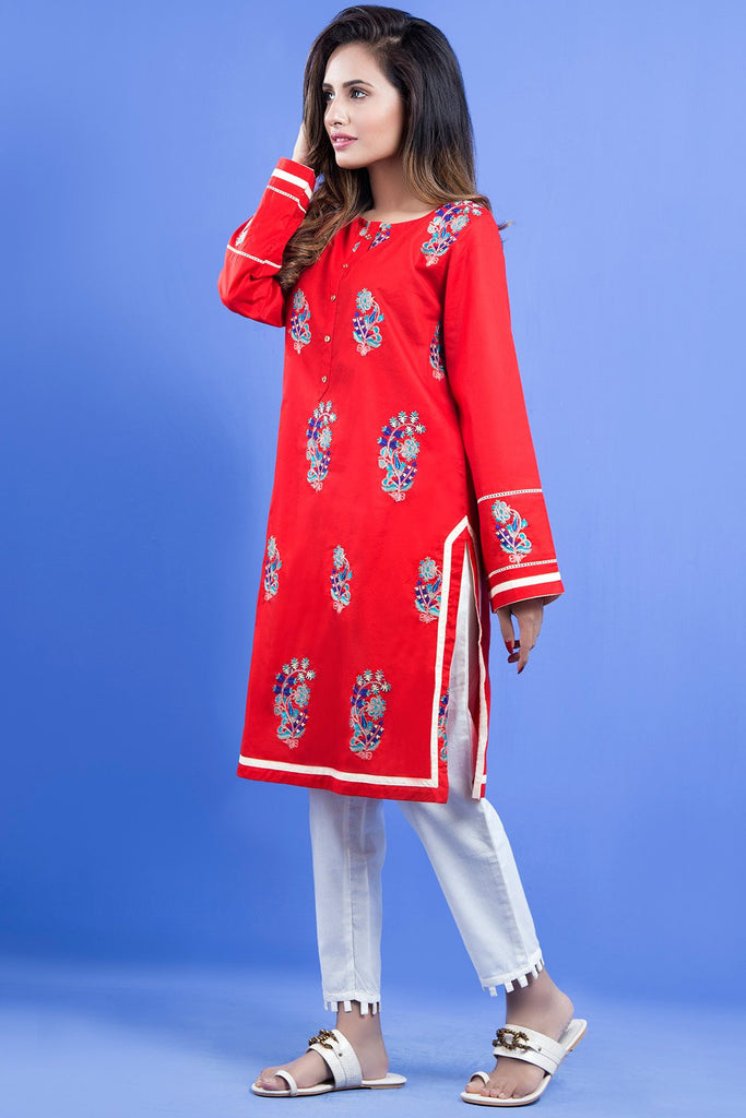Warda Designer Collection - Single Shirt Solid Embroidery LS18999