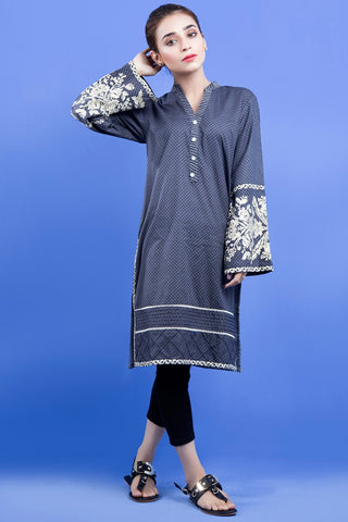 Warda Designer Collection - Single Shirt Print Embroidery LS19809