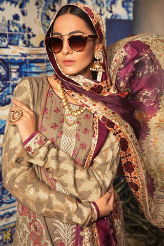 Warda Designer Collection - Conventional Brink 3PC Melange Embroidery 3819099