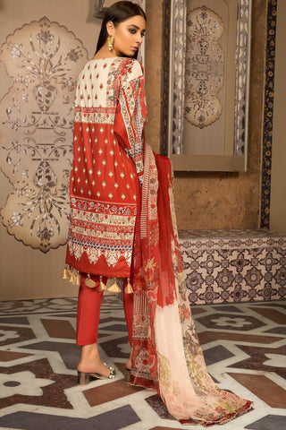 Warda Designer Collection - Melange Embroidery Folk Strand 3819273