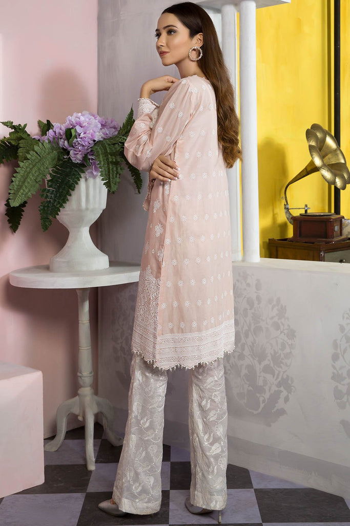 Single Shirt Lawn Chikan Kari 1309479 - Unstitched - Warda Designer Collection