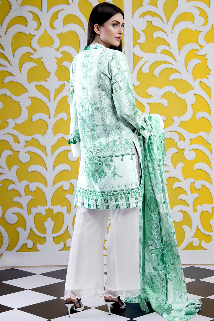 3PC Lawn Chikan Kari 3819258 - Unstitched - Warda Designer Collection