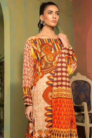 Warda Designer Collection - Single Shirt Lawn Print 1309118