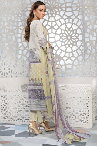 Warda Designer Collection - 3PC Lawn Embroidery with Chiffon Dupatta 3819235
