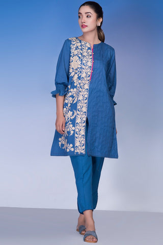 Warda Designer Collection - Single Shirt Solid Embroidery LS18804