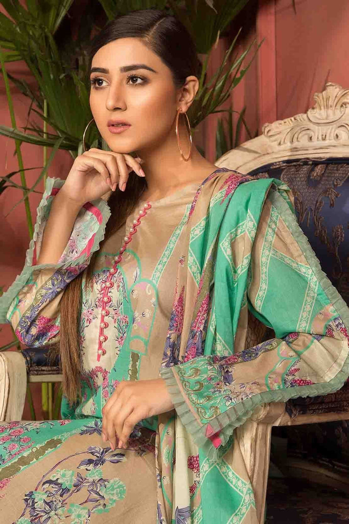 3PC Lawn Print with Dupatta 3819050