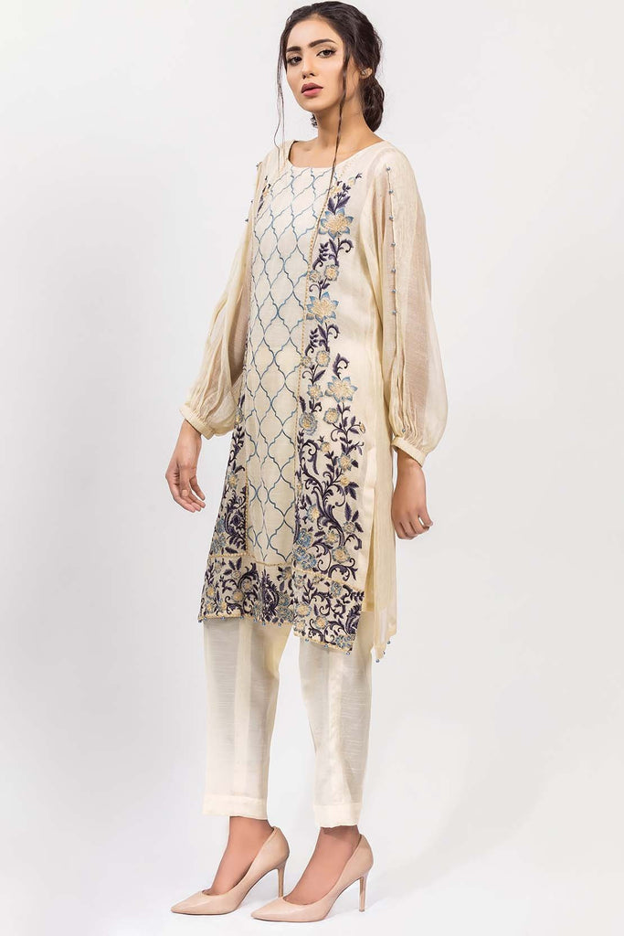 Warda Designer Collection - Stitched Single Shirt Embroidered with Inner Solid Embroidery LPS1835