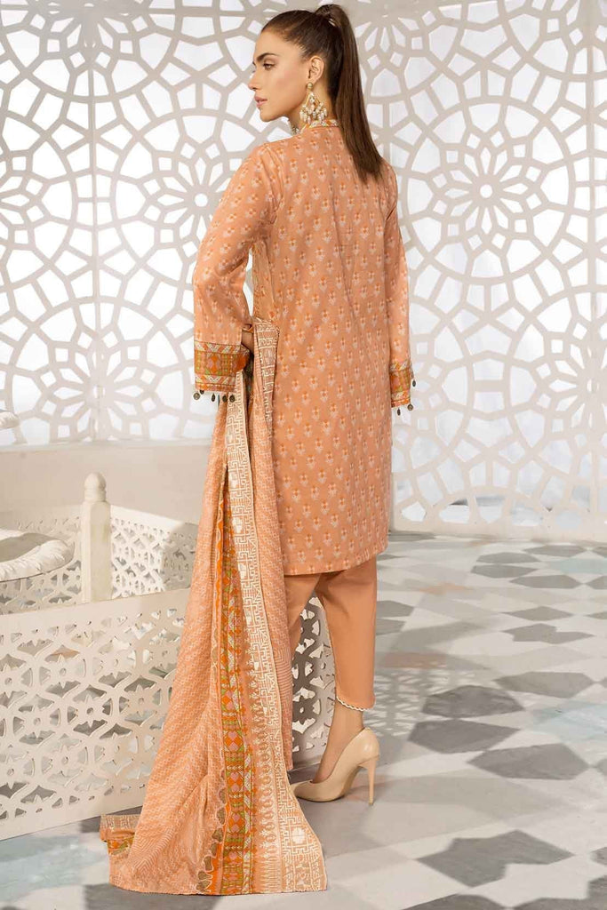 Warda Designer Collection - 3PC Lawn Chikan Kari with Printed & Embroidered Lawn Dupatta 3819337