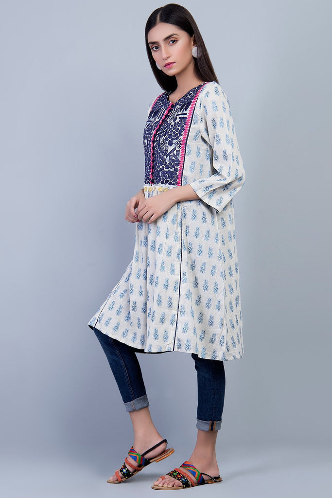 Bold Single Shirt Jacquard With Embroidery LS18190 - Pret - Warda Designer Collection