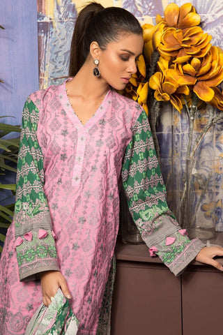 Warda Designer Collection - 3PC Lawn Chikan Kari 3819080