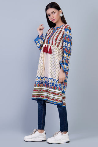 Warda Designer Collection - Single Shirt Fusion Print LS19010