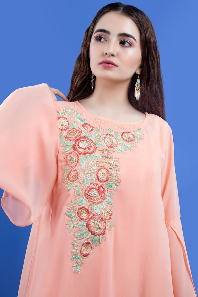 Formal Stitched Embroidered Shirt with Inner LPS1908 - Pret - Warda Designer Collection